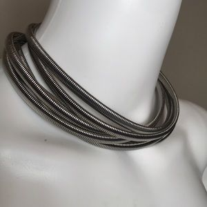 NWT BCBG Silver Stacked Necklace